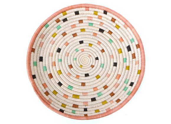 'Dotted Peach' Decorative Tray by KAZI