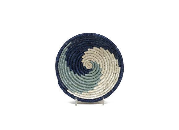 Small 'Silver Blue Unity'  Basket by KAZI