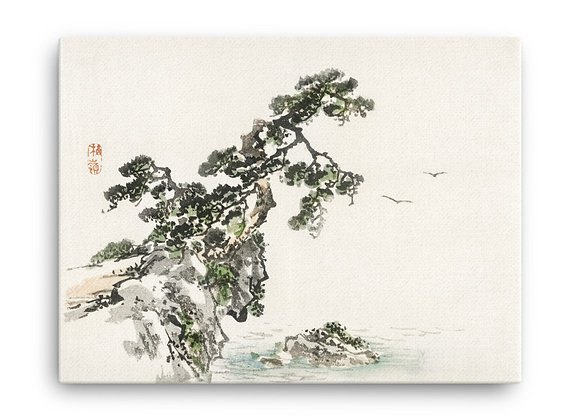 'Cliff' by Kōno Bairei on Canvas
