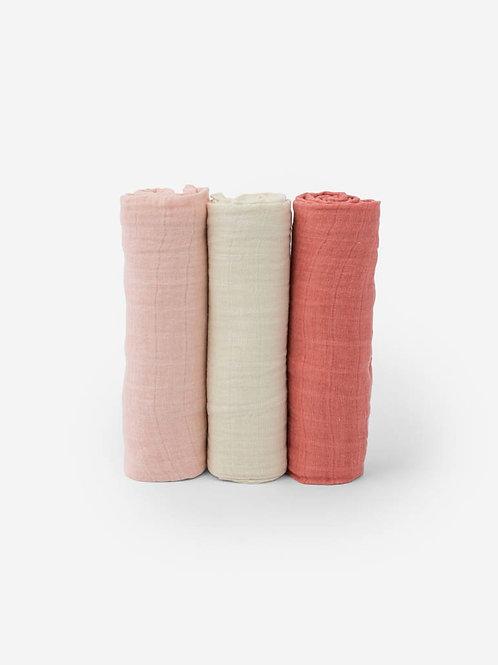 Rose Petal Muslin Swaddle Blanket