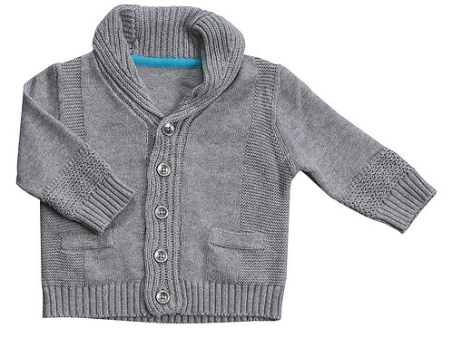 Grey Heather Shawl Collar Cardigan