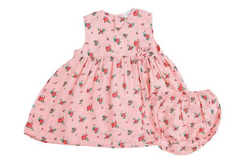 Mini Rose Kimono Dress and Diaper Crystal Rose