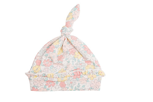 Sweet Ditsy Knotted Hat Pale Pink