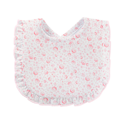 Pretty Flowers Bib With Ruffles