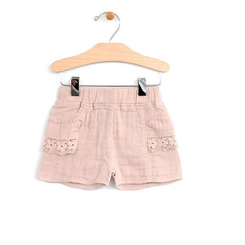 Woven Lace Pocket Short