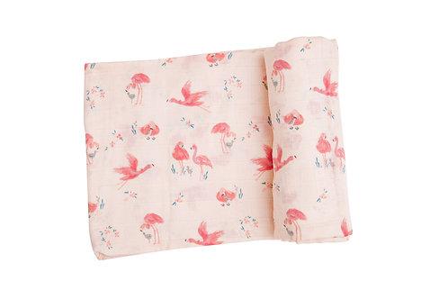 Flamingos Swaddle Blanket