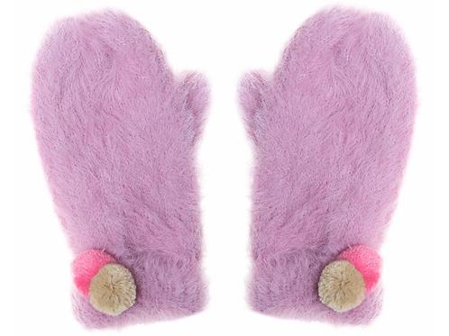 Fluffy Spot Mittens