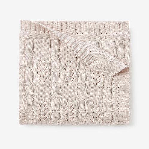 Blush Leaf Cable Blanket