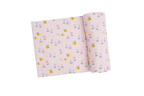 Little Bee Swaddle Blanket Pink