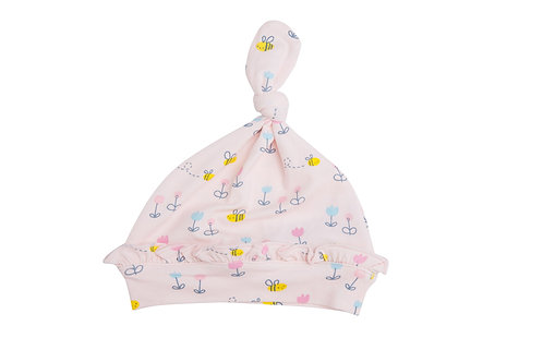 Little Bee Knotted Hat Pink