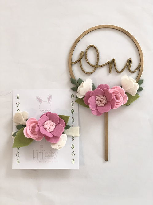 One Pink Cake Topper