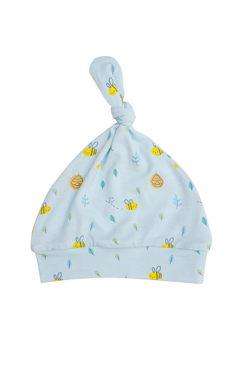 Little Bee Knotted Hat Blue