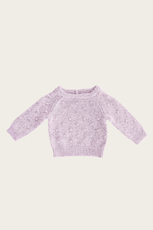 Dotty Knit Lilac Fleck