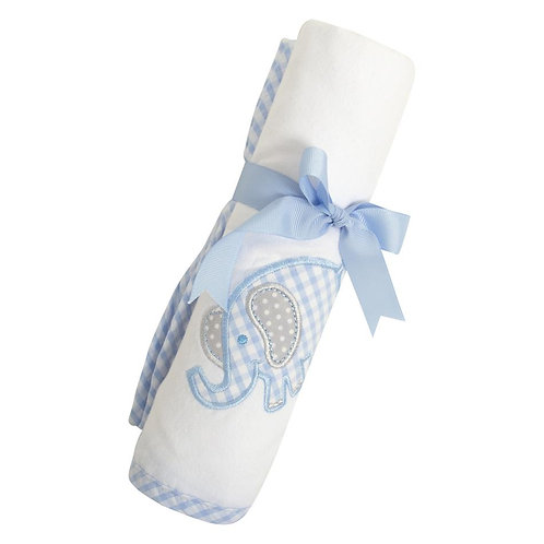 Blue Elephant Swaddle Blanket