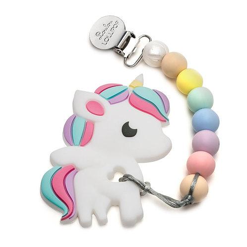 Silicone Teether Set  Rainbow Unicorn  Cotton Candy