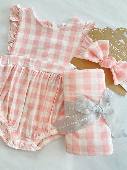 Pink Gingham Set