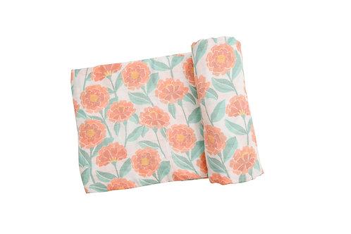 Marigold Garden Swaddle Blanket