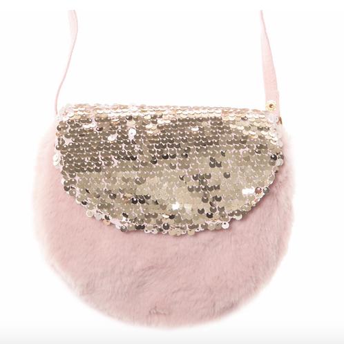 Shimmer Sequin Fur Bag