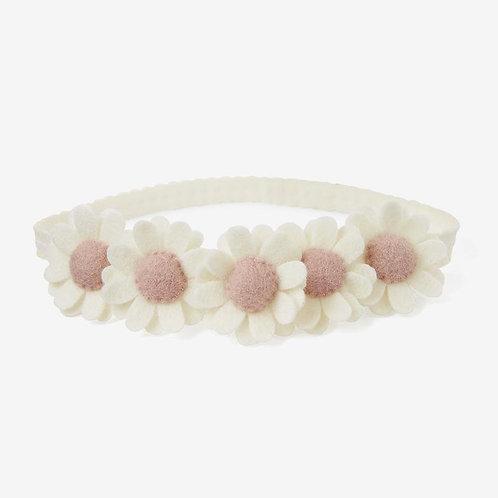 Cream Flower Crown Felt Nylon