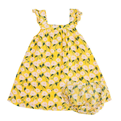 Golden Floral Sundress Cover Yellow