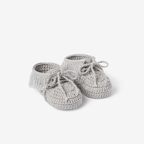 Booties Moccasins Gray