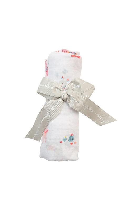 Pink Llama Swaddle Blanket