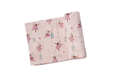 Sugarplum Fairies Swaddle Blanket