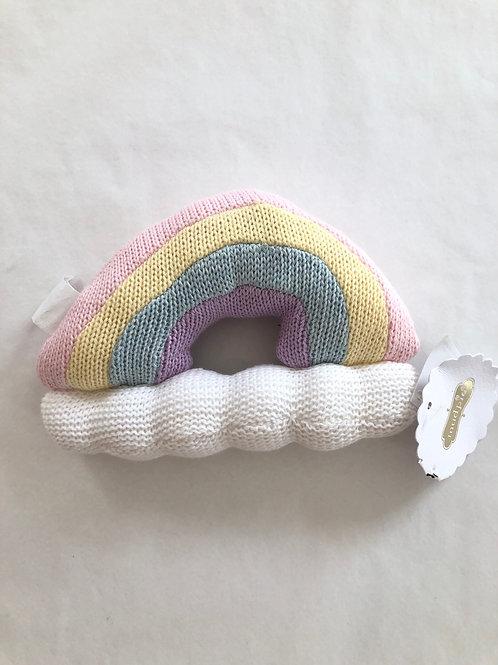 Rainbow Knit Rattle