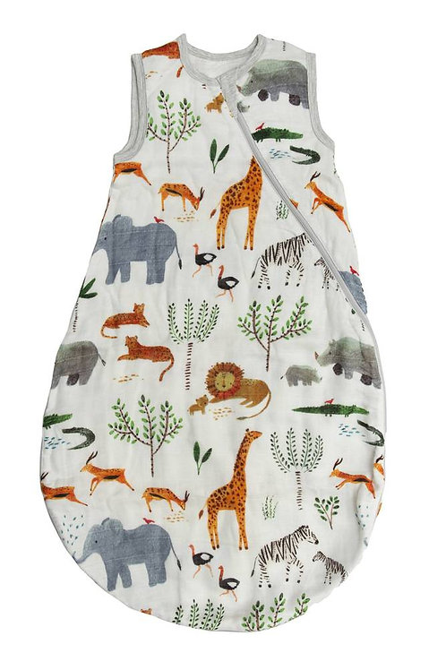 Safari Jungle Muslin Sleep Bag