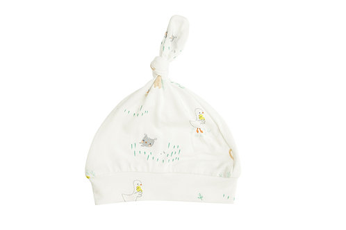 Little Farmer Boy Knotted Hat Ivory