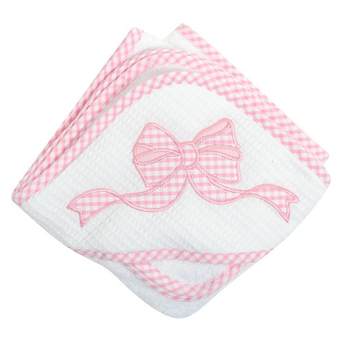 Bow Hooded Towel & Washcloth Set