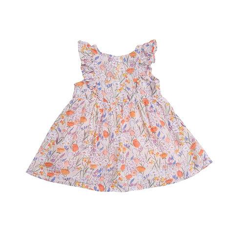 Springtime Dress and Diaper Cover Pink
