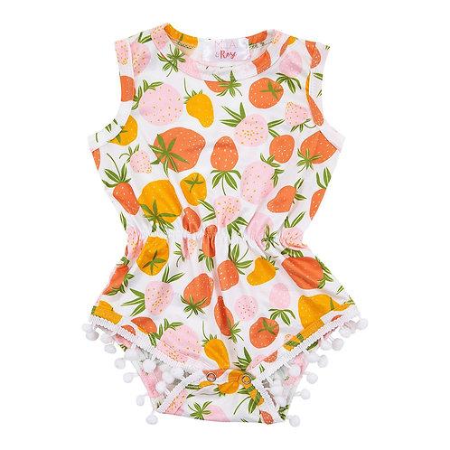 Berry Sweet Pom Pom Romper