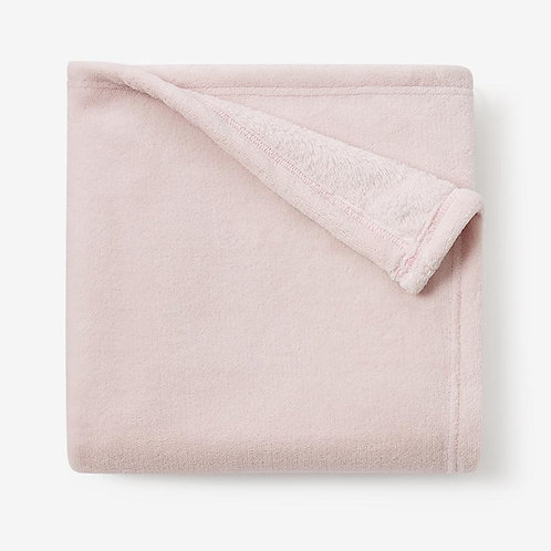 Pale Pink Simple Fleece Baby Stroller Blanket