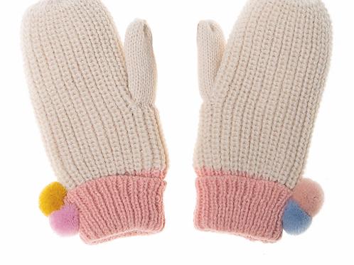 Dreamy Rainbow Knit Mittens