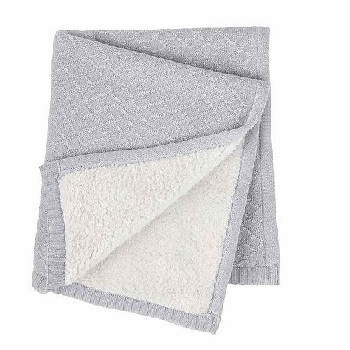 Blue Sweater Knit Blanket