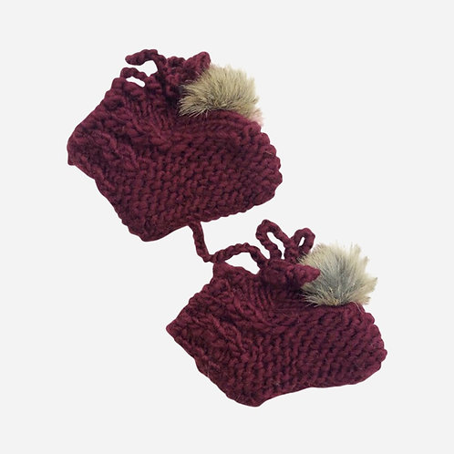 Pomegranate Booties with Pom