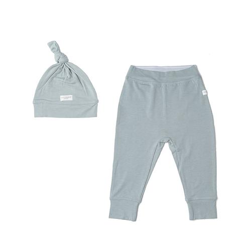 Slate Baby Pants and Hat