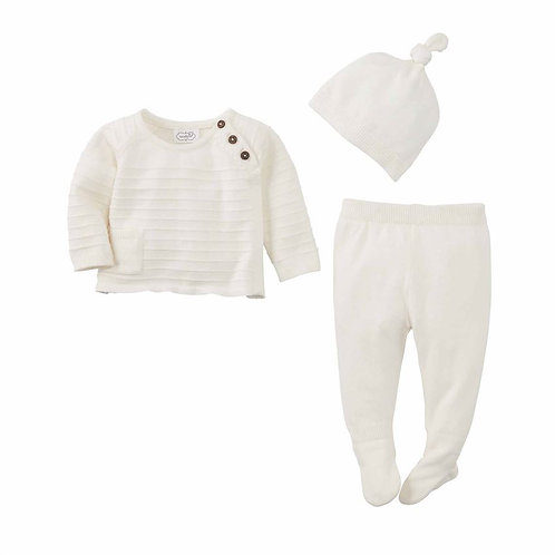 Knit Ivory 3pc Set