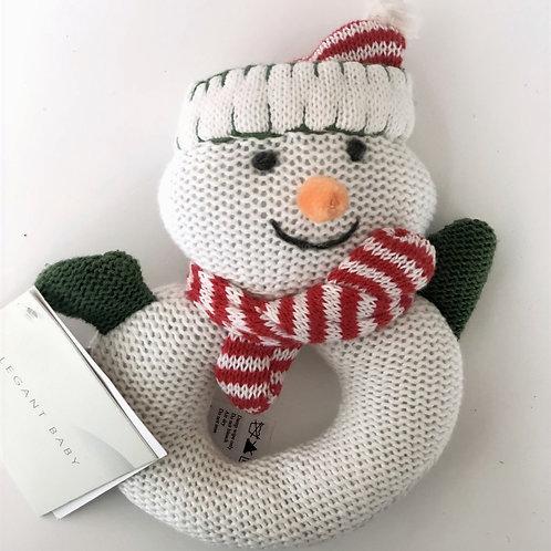 Snowman Ring Rattle
