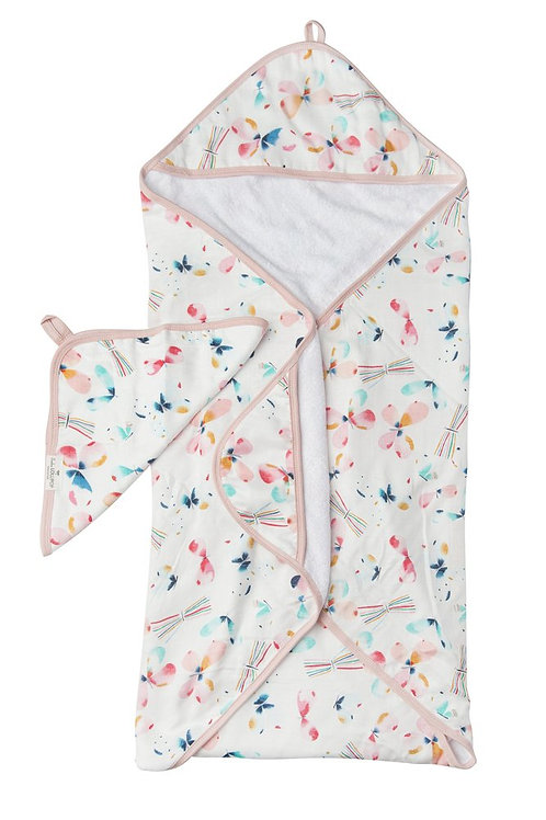 Butterfly Hooded Towel Set