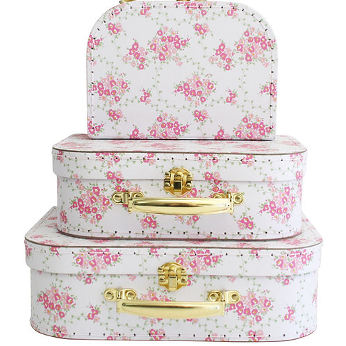 Wreath White Carry Case Set