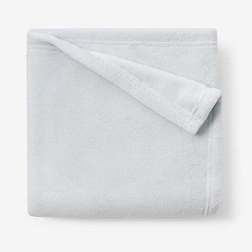 Pale Blue Simple Fleece Baby Stroller Blanket
