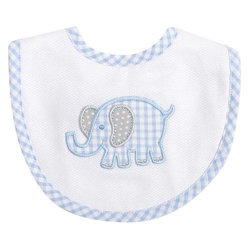 Blue Elephant Medium Bib