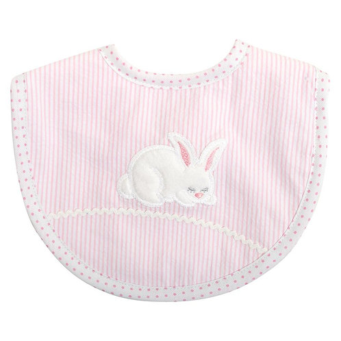 Pink Bunny Medium Bib