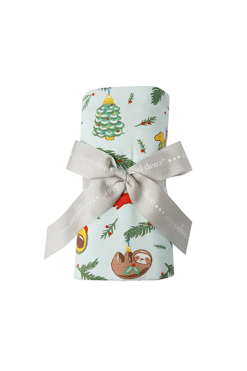 Novelty Ornaments Blue Swaddle Blanket