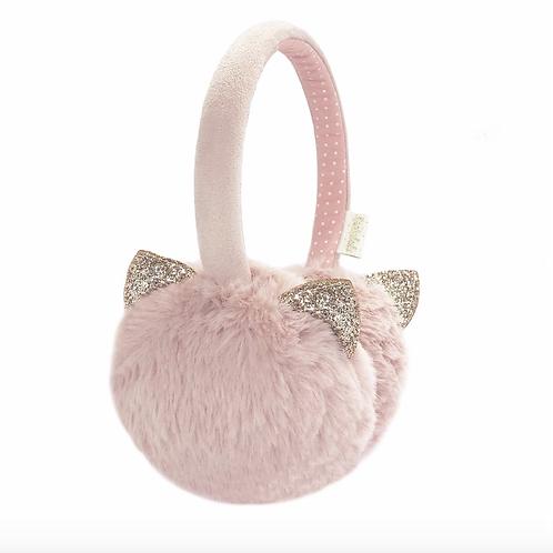 Clara Cat Earmuffs Pink