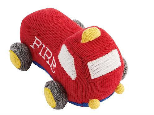 Firetruck Knit Rattle