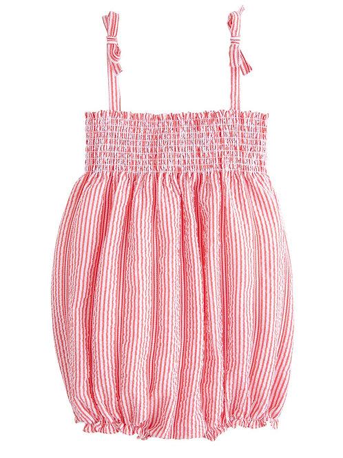 Fancy Red Seersucker Lucy Bubble