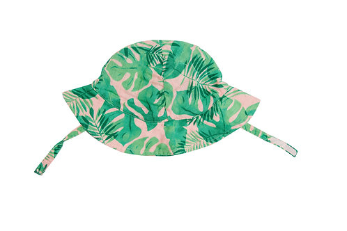 Tropical Leaves Floral Sunhat